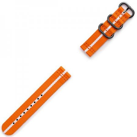 GP-R600BREECAG Gear Sport Premium Nato Strap orange-white