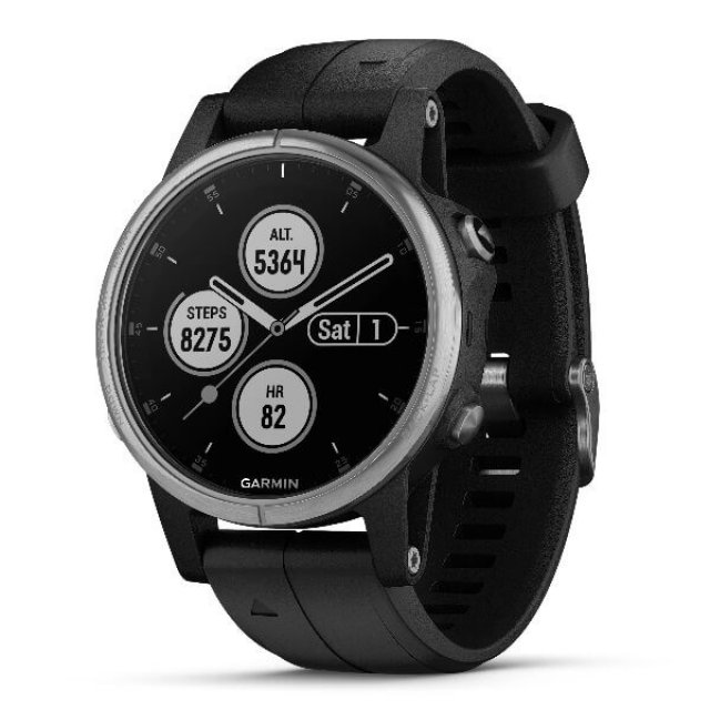 GARMIN Zegarek Fenix 5S PLUS silver/black band