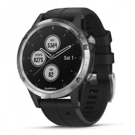 GARMIN Zegarek Fenix 5 PLUS silver/black band