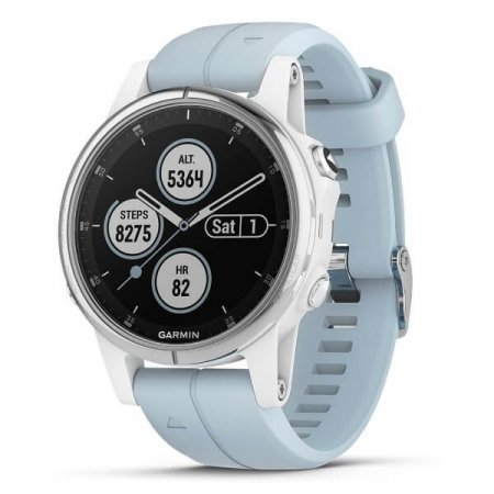 GARMIN Zegarek Fenix 5S PLUS white/seafoam band