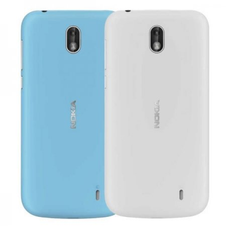 XP-150 Nokia 1 Xpress-on Cover Dual Pack Azure & Grey (niebieski & szary)