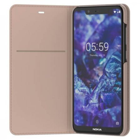 CP-251 Nokia 5.1 Plus Entertainment Flip Cover Cream