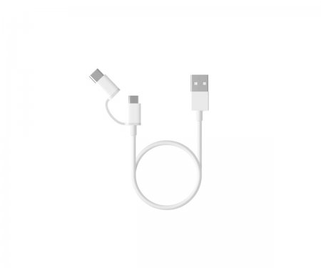 Xiaomi Mi 2-in-1 USB Cable (Micro USB to Type C) 30cm (15304